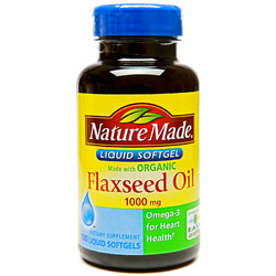 Nature Made- Flaxseed Oil 1000mg, 100 Softgels