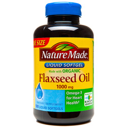 Nature Made- Flaxseed Oil 1000mg, 180 Softgels