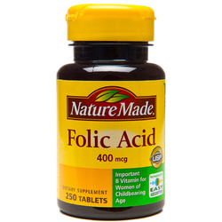 Nature Made- Folic Acid 400mcg, 250 Tablets