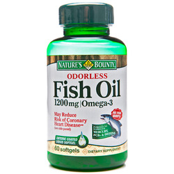 Nature's Bounty- Fish Oil Odorless (Enteric Coated), 1200mg, 60 softgels