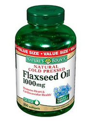 Nature's Bounty- Flax Oil (organic), 1000mg, 200 softgels