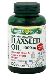 Nature's Bounty- Flaxseed Oil, 1000mg, 120 softgels