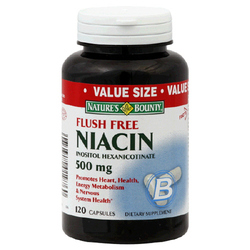 Nature's Bounty- Flush Free Niacin, 500mg, 120 capsules (VALUE SIZE)