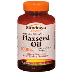 Sundown Naturals- Flax Oil, 1000mg, 100 softgels