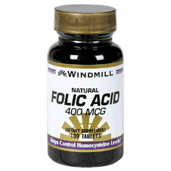 Windmill- Folic Acid, 400mcg, 180 Tablets