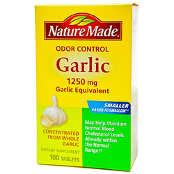 Nature Made- Garlic Odor Control, 1250mg, 100 Tablets