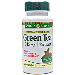 Nature's Bounty- Green Tea Extract, 315mg, 100 capsules (contains EGCG)