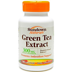 Sundown Naturals- Green Tea Extract (Standardized), 300mg, 50 capsules