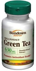 Sundown Naturals- Green Tea Extract (Standardized), 630mg, 90 capsules