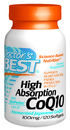 High Absorption, CoQ10 with Bioperine, 100mg, 120 softgels