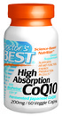High Absorption, CoQ10 with Bioperine, 200mg, 60 vegetable capsules