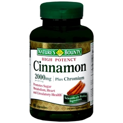 Nature's Bounty- High Potency Cinnamon 2000 Plus Chromium, 400mcg, 60 tablets