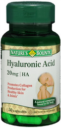 Nature's Bounty- Hyaluronic Acid, 20mg, 30 capsules