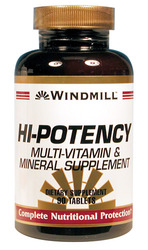 Windmill- Hi-Potency Multi-Vitamin/Mineral, 90 Tablets