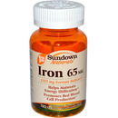 Iron from 325mg Ferrous Sulfate, 120 tablets