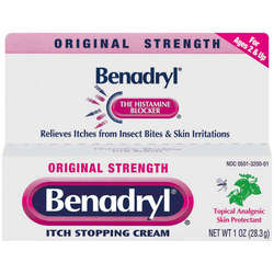 Benadryl- Itch Stopping Cream, Original, 1oz