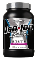 Dymatize- Iso 100, Gourmet Berry, 1.6lbs