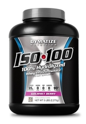 Dymatize- Iso 100, Gourmet Berry, 5lbs
