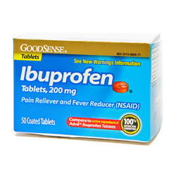 Good Sense- Ibuprofen Brown Tablets 200mg, 50 Tablets