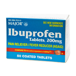 Major Pharmaceuticals- Ibuprofen 200mg, 50 Tablets