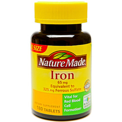 Nature Made- Iron 65mg, 180 Tablets