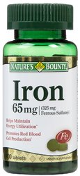 Nature's Bounty- Iron, 65mg, 100 tablets