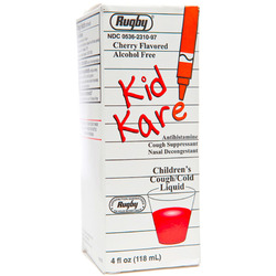 Watson Rugby- Kid Kare Cough And Cold, Cherry, 4floz Liquid