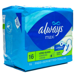 Always- Long Super Maxi with Wings (16 pack)