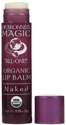 Dr Bronner's- Lip Balm, Naked, .15oz