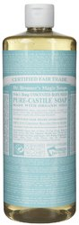Dr Bronner's- Liquid Hemp Soap, Baby, Unscented, 32oz