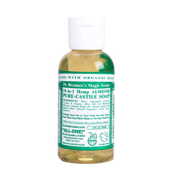 Dr Bronner's -Liquid Soap, Almond Travel, 2oz