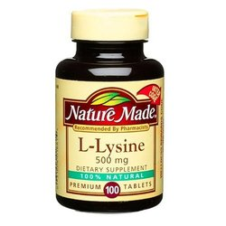 Nature Made- L-Lysine 500mg, 100 Tablets