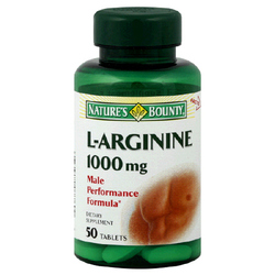 Nature's Bounty- L-Arginine, 1000mg, 50 tablets