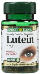 Nature's Bounty- Lutein (Natural Carotenoid), 6mg