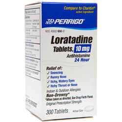 Perrigo- Loratadine 10mg, 300 Tablets