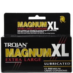Trojan- Lubricated Latex Condoms, Magnum XL, Extra Large (12 Pack)