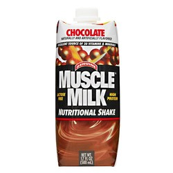 CytoSport- Muscle Milk 17oz,  Chocolate (12 pack)