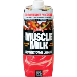 CytoSport- Muscle Milk 17oz,  Strawberry (12 pack)