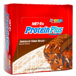 Met-Rx- Muscle Building Protein Plus Bar, Chocolate Fudge Deluxe (12 pack)