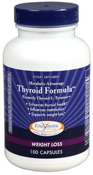 Enzymatic Therapy- Metabolic Advantage, Thyroid Formula, 100 capsules