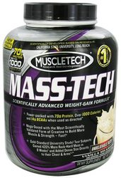 Muscletech- Mass Tech, Vanilla, 5lbs