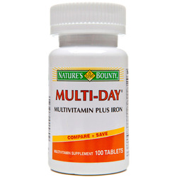 Nature's Bounty- Multi Day + Iron tablets (One-A-Day Plus Iron), 100 tablets