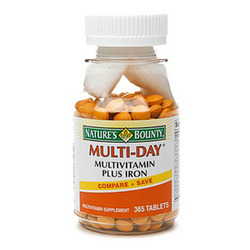 Nature's Bounty- Multi Day + Iron tablets (One-A-Day Plus Iron), 365 tablets