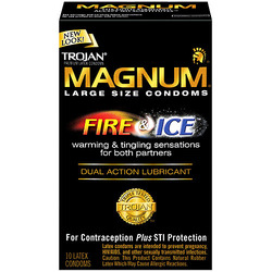 Trojan- Magnum Fire & Ice Latex Condoms (10 Pack)