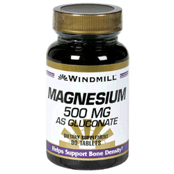 Windmill- Magnesium Gluconate, 500mg, 90 Tablets
