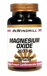 Windmill- Magnesium Oxide, 200mg, 100 Tablets