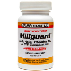 Windmill- Millguard Folic Acid B6 & B12, 100 Tablets