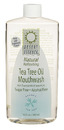Natural Refreshing Tea Tree Oil Mouthwash, Alcohol Free, Spearmint, 16oz