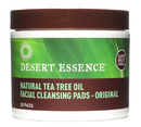 Natural Tea Tree Oil Facial Cleansing Pads, Original, 50 Pads