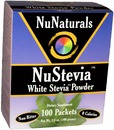 NuStevia, White Stevia Powder, 3.5oz, 100 packets
